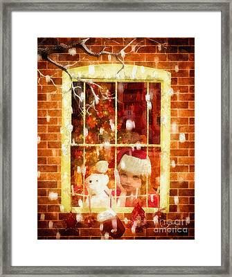 Waiting For Santa Framed Print by Mo T