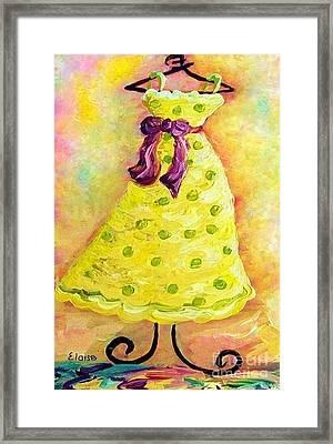 Waiting For Summer - Impressionism Framed Print by Eloise Schneider