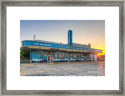 Waiting For The Bus I Framed Print by Clarence Holmes