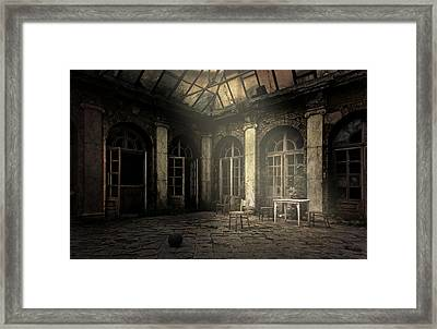 Waiting For The Guests Framed Print by Jaroslaw Blaminsky