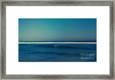 Waiting For The Perfect Wave Framed Print by Nina Prommer