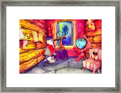Waiting For The Super Star Framed Print by George Rossidis