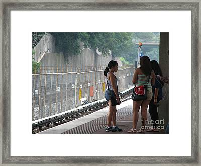 waiting for the train to DC Framed Print by John Morris