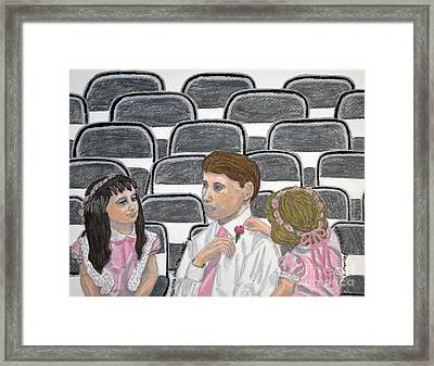 Waiting For The Wedding Framed Print by  Cora Eklund