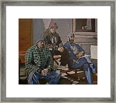 Waiting For Work Framed Print by Patricio Lazen