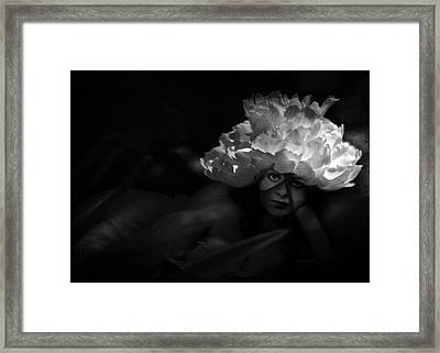 Waiting For You In The Night Garden Framed Print by Rebecca Sherman
