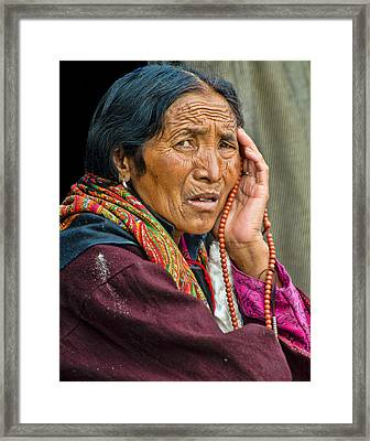 Waiting In Dharamsala For The Dalai Lama Framed Print by Don Schwartz