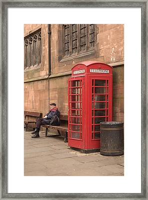Waiting On A Call Framed Print by Mike McGlothlen
