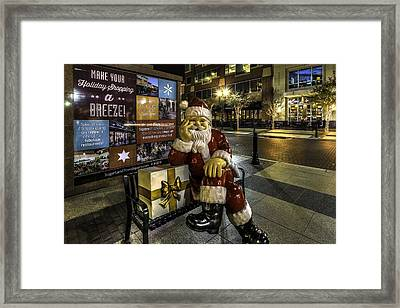 Waiting On Christmas In Sugar Land  Framed Print by David Morefield