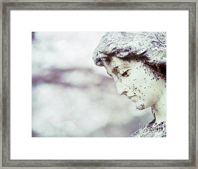 Waiting On Eternity Cemetery Photo Framed Print by Sonja Quintero