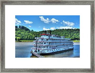 Waiting On The Levee Framed Print by Tri State Art