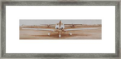 Waiting On The Pilot Framed Print by Rob Dreyer AFC