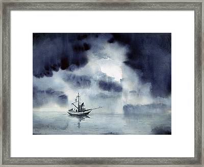 Waiting Out The Squall Framed Print by Sam Sidders