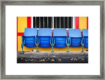 Urban Waiting Room Framed Print by Steven  Michael