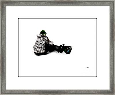 Waiting To Board  Framed Print by Steven  Digman
