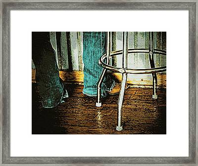 Waiting Waitress  Framed Print by Chris Berry