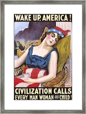 Wake Up America Framed Print by Pg Reproductions