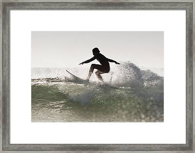 Wakeboarding Los Lances Beach Tarifa Framed Print by Ben Welsh
