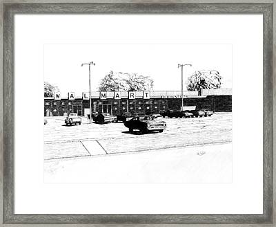 Wal Mart Discount City Framed Print by Ron Enderland