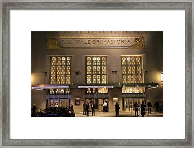 Waldorf Astoria Hotel 1 Framed Print by Andrew Fare