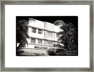 Waldorf Towers Framed Print by John Rizzuto