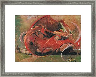 Wales Vs England  Framed Print by Jessica Davies