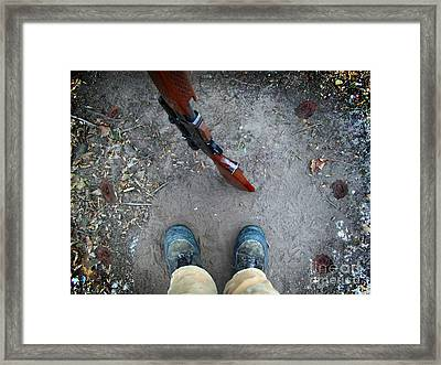 Walk A Mile In My Shoes Framed Print by The Stone Age