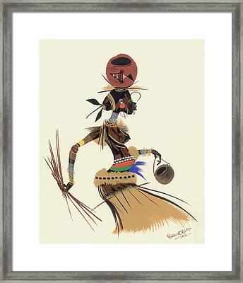 Walk For Food Framed Print by Oglafa Ebitari Perrin