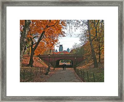 Walk In The Park Framed Print by Barbara McDevitt