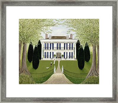 Walk In The Park Framed Print by Mark Baring