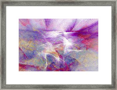 Walk On Water - Abstract Art Framed Print by Jaison Cianelli