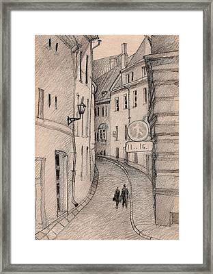 Walk Framed Print by Serge Yudin
