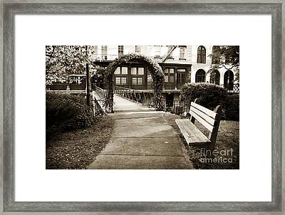Walk Through Savannah Framed Print by John Rizzuto