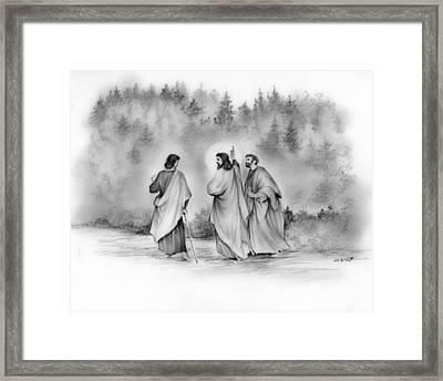 Walk To Emmaus Framed Print by Greg Joens