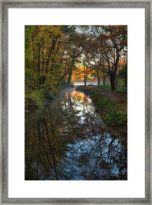 Walk To The Pond Framed Print by Michael Blanchette