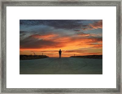 Walk Towards The Light Framed Print by Steven  Michael
