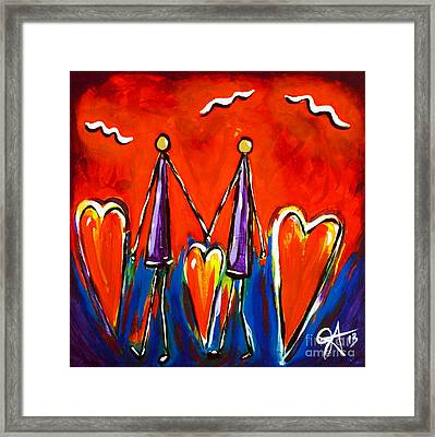 Walk With Me Framed Print by Jackie Carpenter