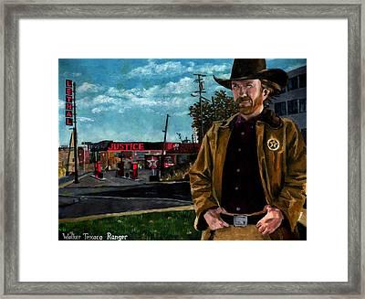 Walker Texaco Ranger - Lethal Justice Framed Print by Thomas Weeks