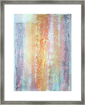 Walking Buddha Framed Print by Asha Carolyn Young