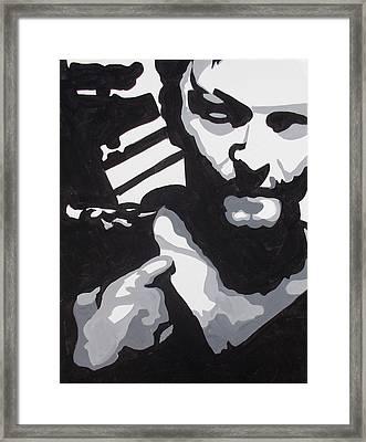 Walking Dead Daryl Close Framed Print by Marisela Mungia