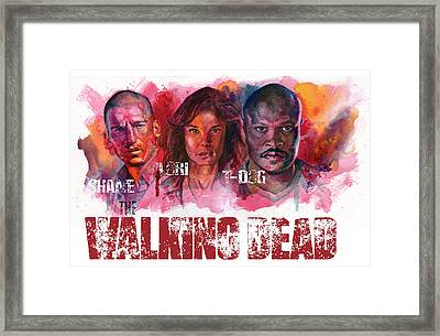 Walking Dead Dead Framed Print by Ken Meyer jr