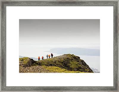 Walking Group On Ben More Framed Print by Ashley Cooper