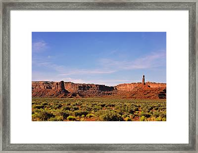 Walking In The Valley Of The Gods Framed Print by Christine Till