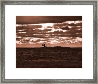 Walking On Mars Framed Print by Dan Sproul