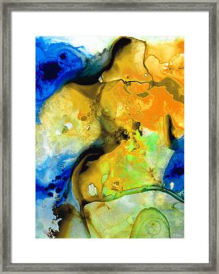 Walking On Sunshine - Abstract Painting By Sharon Cummings Framed Print by Sharon Cummings