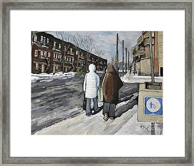 Walking On The Avenues Framed Print by Reb Frost
