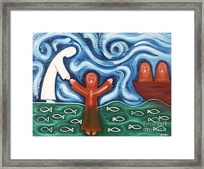 Walking On Water 2 Framed Print by Patrick J Murphy