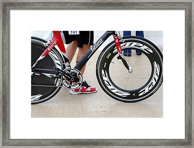 Walking Swimming Biking Running  Framed Print by David Bearden