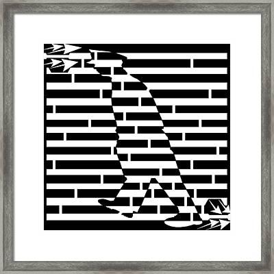 Walking The Beat Maze Framed Print by Yonatan Frimer Maze Artist