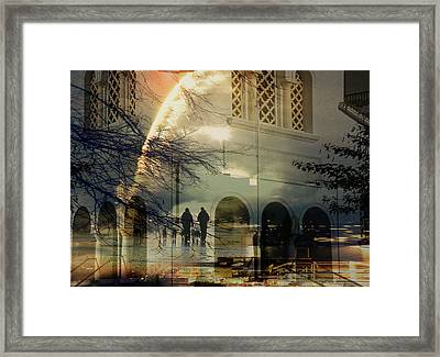 Walking The Dogs Framed Print by Sarah Vernon